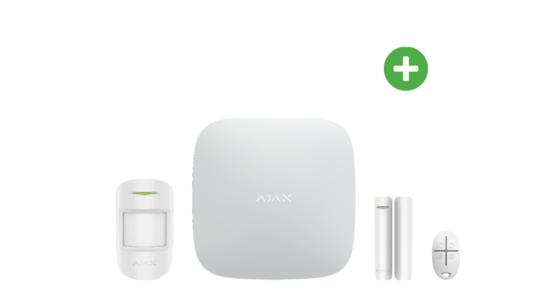 AJAX Hub Plus Basispakke Hvid